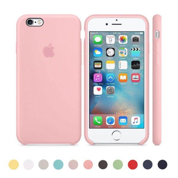 coque en rose pour l'iPhone 8